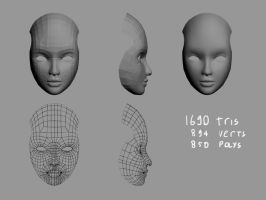 WiP - a face by Vantm