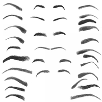 28 Eyebrow Photoshop Brushes by photoshopweb