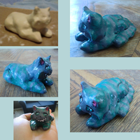 Chesire Cat Sculpture - Gift for Brittany by Frey-ofthe-Arcane