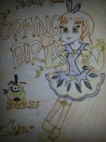 Angry Girls/Angry Birds: Orange Bird Girl by MeganLovesAngryBirds