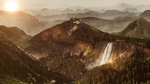 Mountain castle - Matte painting by Rosssc