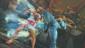 SSF4AE   SAKURA vs Chun li  Screenshot by YUKARIN2012