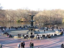 New Bethesda Fountain Picture by Fluffytheartist