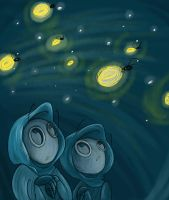 Fireflies by VivzMind
