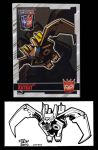 2012 BotCon Chase Card Shattered Glass RatBat by fbwash
