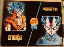 Goku vs. Vegeta  by spray-it-forward