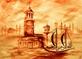 Arap Calligraphy OLD istanbul by guloglan