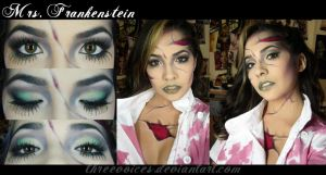 Makeup - Mrs Frankenstein by threevoices