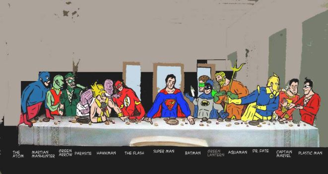 the last supper of superman by thedat