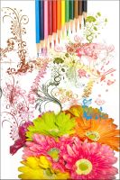colorful flower Power by punypunky