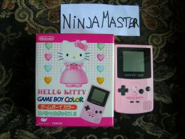 Game Boy Color Hello Kitty by ninjamaster76