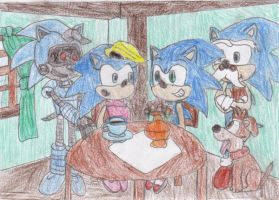 The Hedgehog family by 12gameschamp21