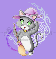 Cute witch cat by SilveryLugia