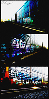 Locomotive Graffiti by singularitycomplex