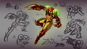 Metroid Evolution: Metroid Suit Concept Art by Marioshi64