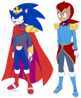 King Sonic and Queen Sally by General-RADIX