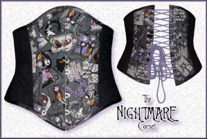 the Nightmare corset by Niarbon