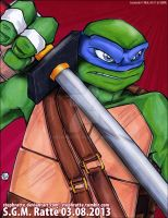 TMNT - :Leonardo the Swordsman: by StephRatte