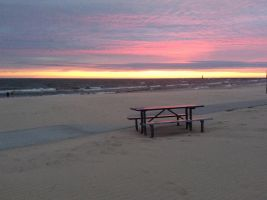 Sunset on lake Michigan by Conssstance137