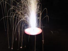 Small pyrotechnic fountain by Dragon181