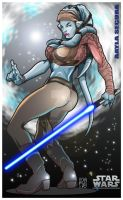 Star Wars - Aayla Secura by mikems71