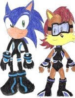 Rq: Sonic and Sally Secret Freedom Fighter Outfits by BlueSpeedsFan92