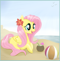 Flutters at the beach. by Balloons504