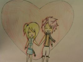 Natsu x Lucy fairy tail by demonlucy