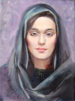 Girl in headscarf by chechenartists