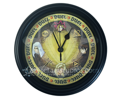 It's Time to Duel!! - Yu-Gi-Oh! Wall Clock by Esclair-Studios