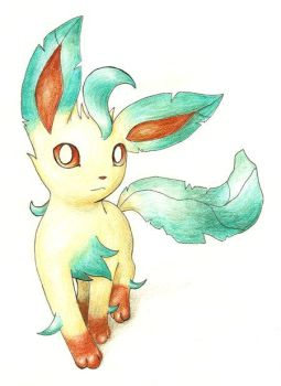 Leafeon by ShrubSparrow