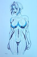 Cortana from Halo Manga Style by ESO2001