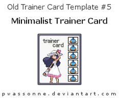 Old Trainer Card Template 5 by pwassonne