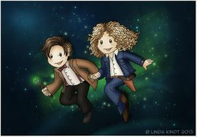The Doctor and River Song by Isriana