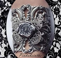 Gothic filigree watch by Pinkabsinthe
