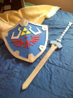 Final Goddess sword/Hylian sheild by AniCyborg