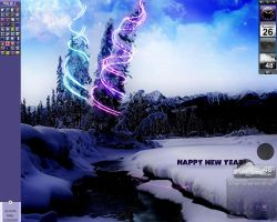 Happy New Year 2009 Desktop by devildoll