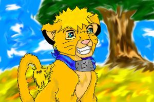 Naruto in the Pride Lands by MousieDoodles