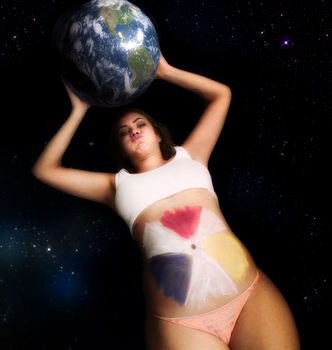 Earth gonna be her dessert by giantess-mirror