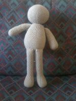 the first large doll from the pattern I wrote up by devilslove666