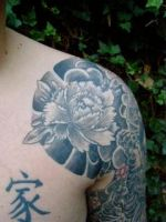 Japanese peony rose by WildThingsTattoo