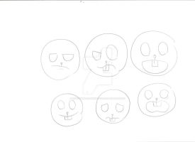Happy tree friends facial experrions training by InuyashaGoldensEyes