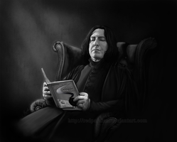 Worlds best Potion Master! BW by RedPassion