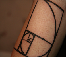 Fibonacci Spiral Tattoo by Crimson-Fatalis