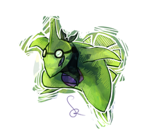 Larvitar PMDoodly by RedEidolon
