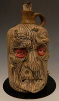 Wooden Old Man Jug- For Sale by thebigduluth