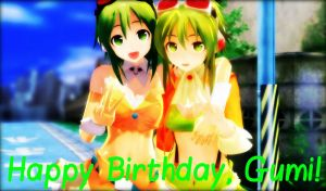 .: Happy Birthday, Gumi :. by Kara-chann