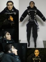Inspector Javert OOAK Art Doll by Lufirel