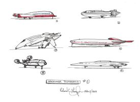Galactica ship concepts by onthesquare