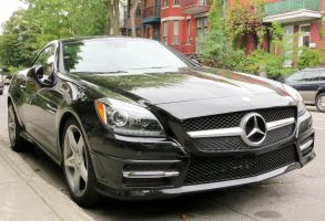 Mercedes-Benz SLK350 - Front View by Kitteh-Pawz